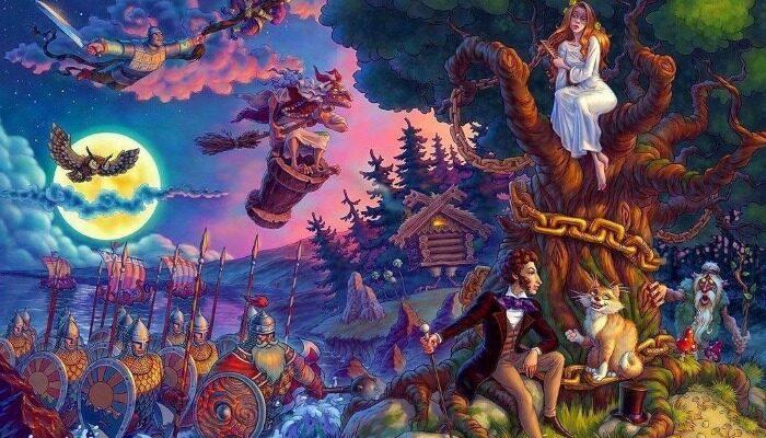 А.С. Пушкин «У лукоморья дуб зеленый» полный анализ стихотворения