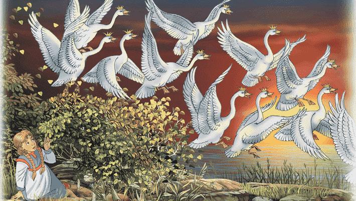 Краткое содержание сказки «Дикие лебеди» (Г.Х. Андерсен)